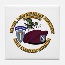 1-143d Inf Regt - 36th Abn Div - Mass Tile Coaster
