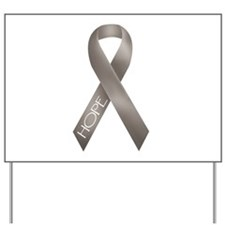 Gray Ribbon Yard Sign