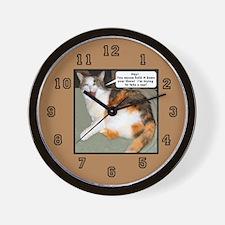 Calico Catnap Wall Clock