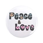 Peace and Love Large Buttons (100 pk)
