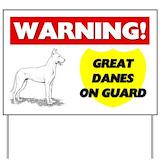 Beware of great dane Yard Signs