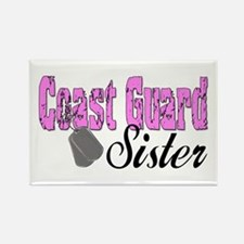 Coast Guard Sister Rectangle Magnet (10 pack)