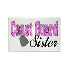 Coast Guard Sister Rectangle Magnet