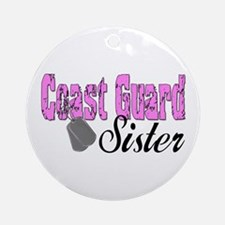 Coast Guard Sister Ornament (Round)