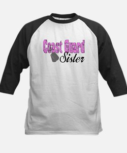 Coast Guard Sister Kids Baseball Jersey