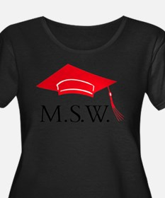 Red MSW Grad Ca Plus Size T-Shirt