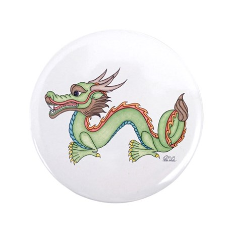 "Oriental Dragon 3.5"" Button"