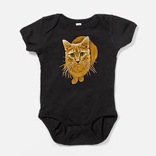 Cute Orange tabby cat Baby Bodysuit