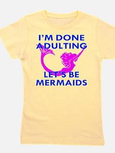 Let's Be Mermaids Girl's Tee
