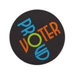 Proud Voter Large Buttons (100 pk)
