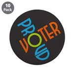 Proud Voter Large Buttons (10 pk)