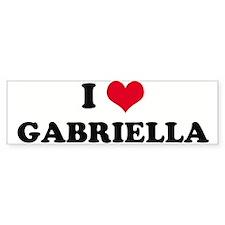 I HEART GABRIELLA Bumper Bumper Sticker