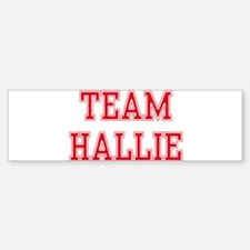 TEAM HALLIE Bumper Car Car Sticker
