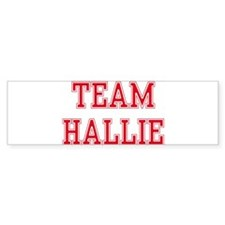 TEAM HALLIE Bumper Car Sticker