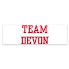 TEAM DEVON Bumper Bumper Sticker