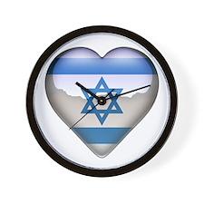 Israel Heart Wall Clock