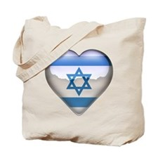 Israel Heart Tote Bag