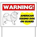 American Eskimo Dog On Guard Yard Sign