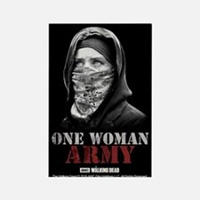 One Woman Army Rectangle Magnet Magnets