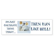 Brave Penguin Bumper Bumper Sticker