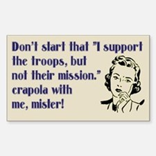 Support our troops mission, sticker.