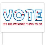 Patriotic Vote Yard Sign