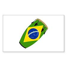 Conga Brazil Flag music Rectangle Decal