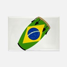 Conga Brazil Flag music Rectangle Magnet (10 pack)