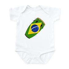 Conga Brazil Flag music Infant Bodysuit