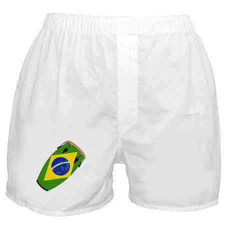 Conga Brazil Flag music Boxer Shorts