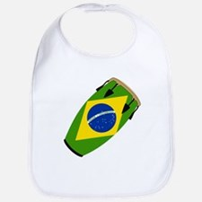 Conga Brazil Flag music Bib
