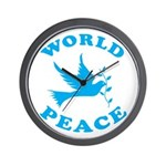 World Peace, Peace and Love. Wall Clock