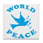 World Peace, Peace and Love. Tile Coaster