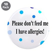 """Don't Feed Me - Polka Dots 3.5"""" Button (10 pack)"""