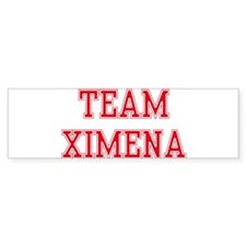 TEAM XIMENA Bumper Bumper Sticker