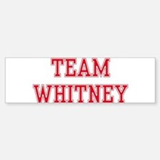 TEAM WHITNEY Bumper Car Car Sticker