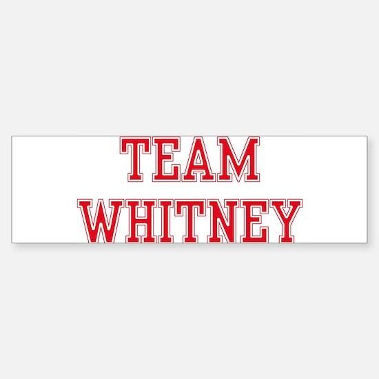 TEAM WHITNEY Bumper Car Car Sticker