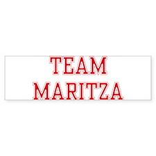TEAM MARITZA Bumper Bumper Sticker