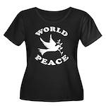 World Peace, Peace and Love. Women's Plus Size Sco