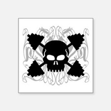 Weightlifting Skull Sticker
