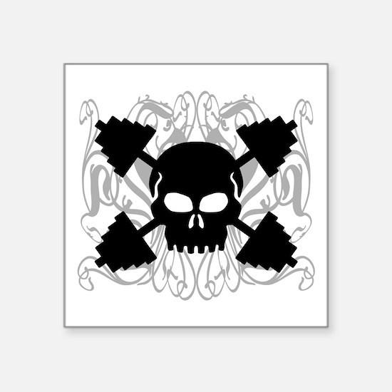 Weightlifting Skull Sticker