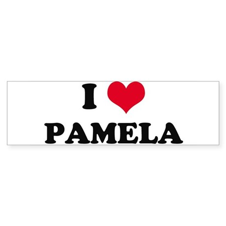 I HEART PAMELA Bumper Sticker