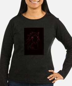 Red Mare Logo Long Sleeve T-Shirt
