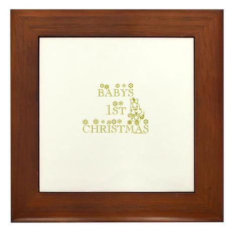 BABYS 1ST CHRISTMAS Framed Tile