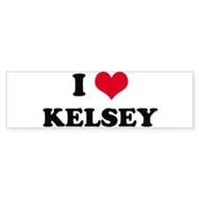 I HEART KELSEY Bumper Bumper Sticker