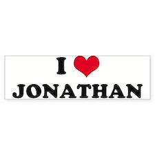 I HEART JONATHAN Bumper Bumper Sticker