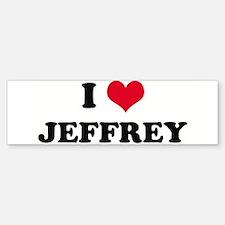 I HEART JEFFREY Bumper Bumper Bumper Sticker
