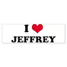 I HEART JEFFREY Bumper Bumper Sticker