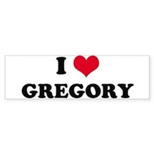 I HEART GREGORY Bumper Bumper Sticker