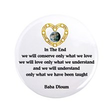 "Baba Dioum's Quote 3.5"" Button (100 pack)"